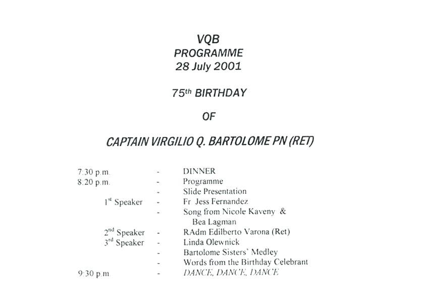 50th Birthday Program Samples