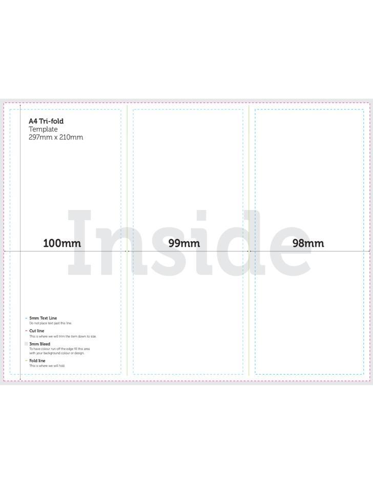 A4 Tri Fold Brochure Template Free
