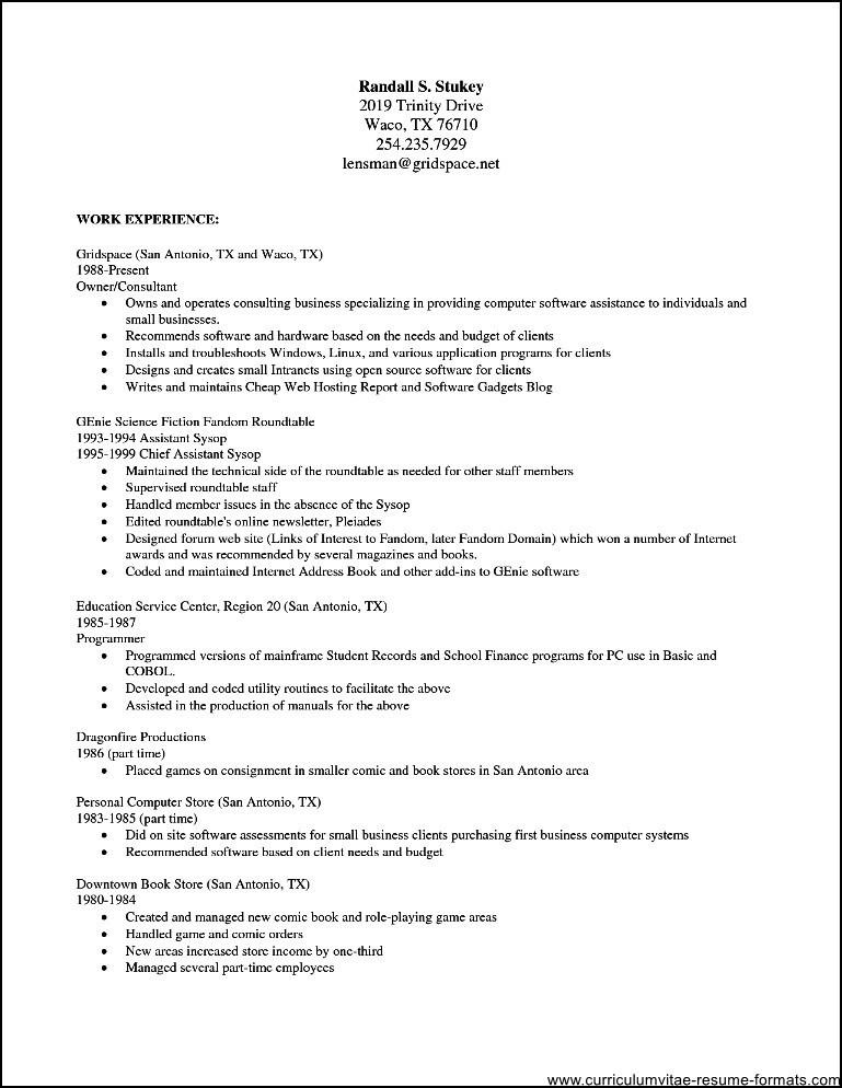 Absolutely Free Resume Template Download
