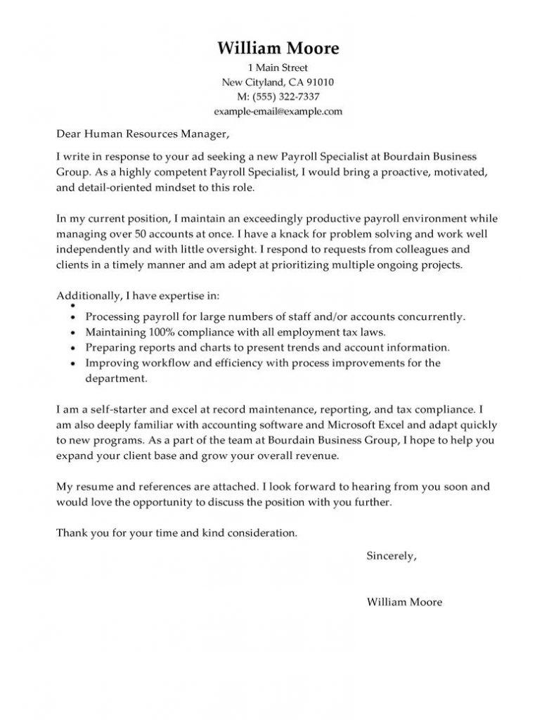 Accounts Payable Specialist Cover Letter Sample