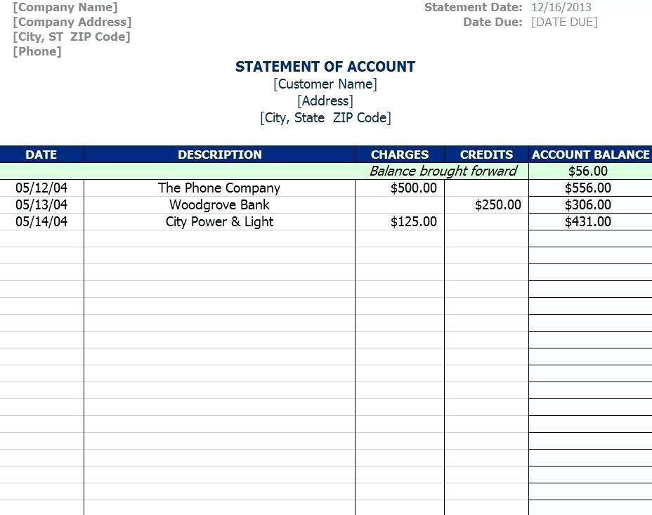 Accounts Payable Statement Reconciliation Template