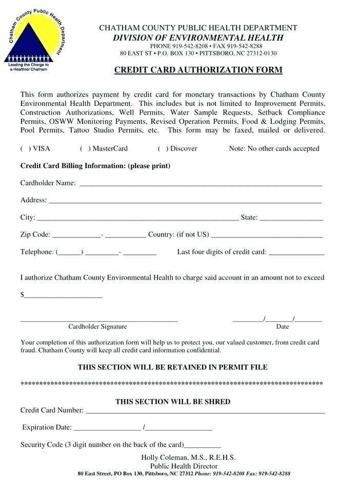 Ach Authorization Form Sample