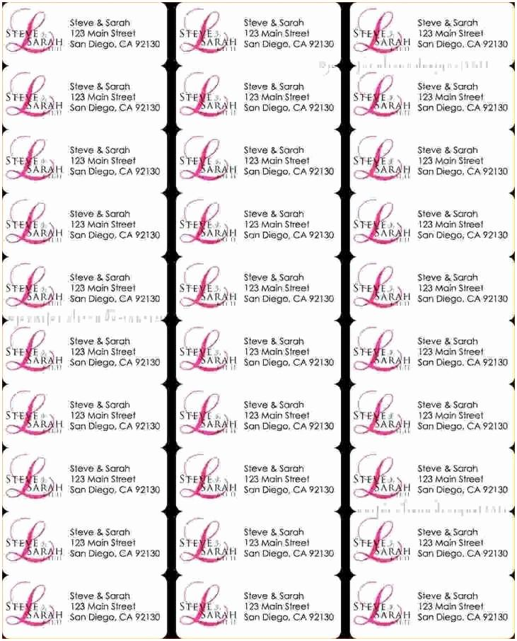 Address Labels 30 Per Sheet Template