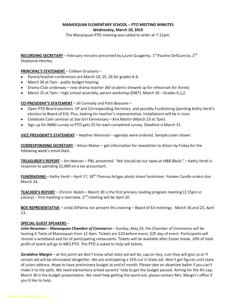 Annual Corporate Minutes Template Free