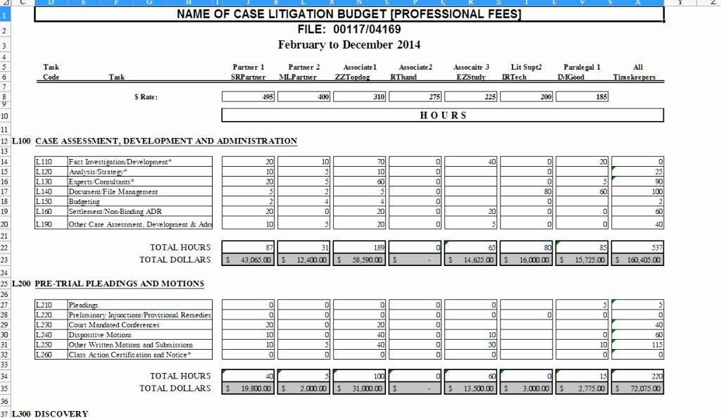 Attorney Hourly Billing Template