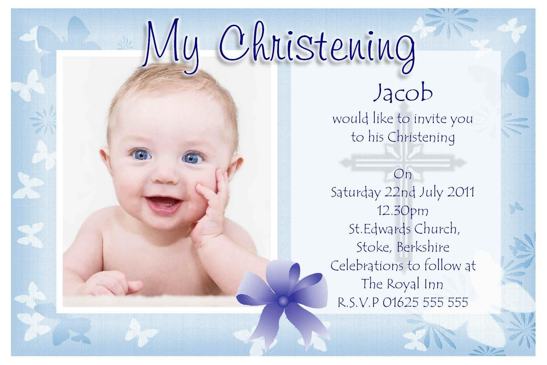 Baby Christening Invitation Templates Free