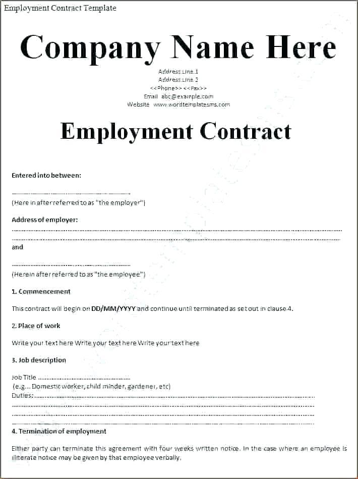 Basic Employee Contract Template