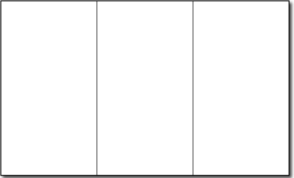 Blank Four Fold Brochure Template