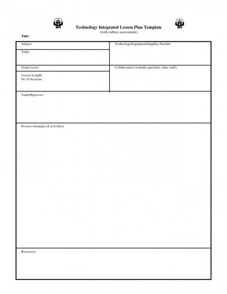 Blank Lesson Plan Template For Pe