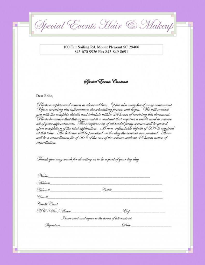 Bridal Makeup Consultation Form Template