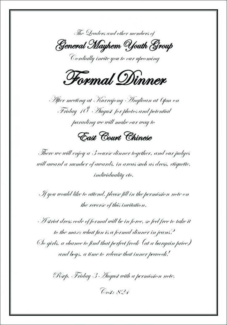 Business Dinner Invitation Email Template