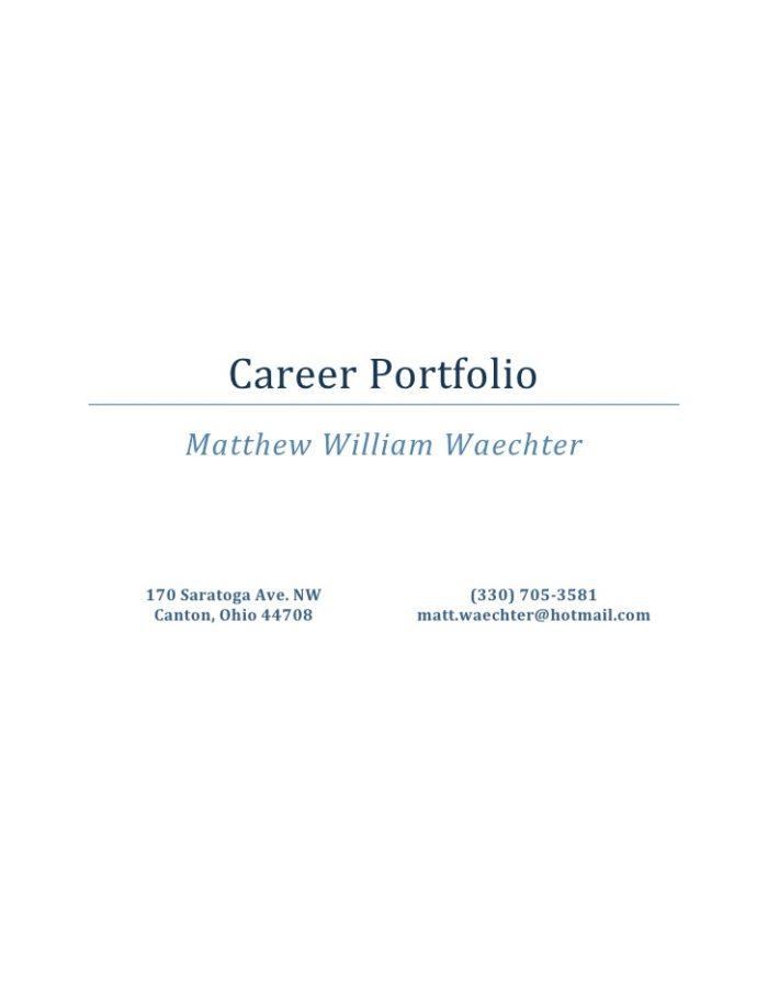 Career Portfolio Template Doc