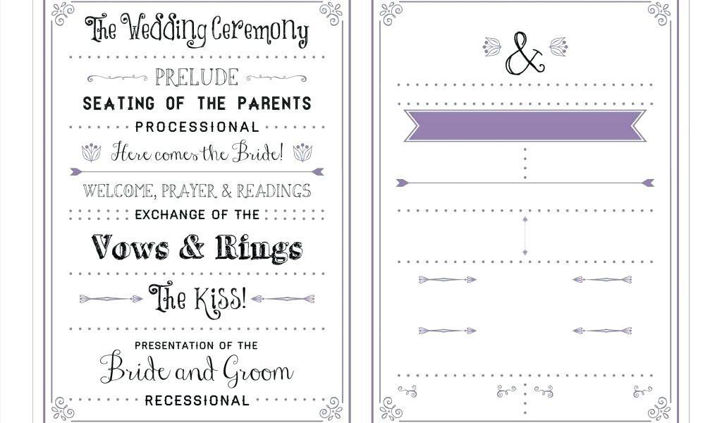 Ceremony Program Template Download