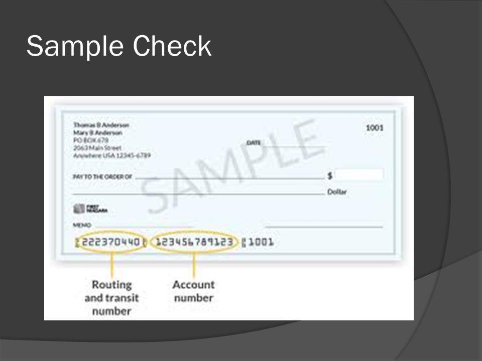 Check Deposit Slip Sample