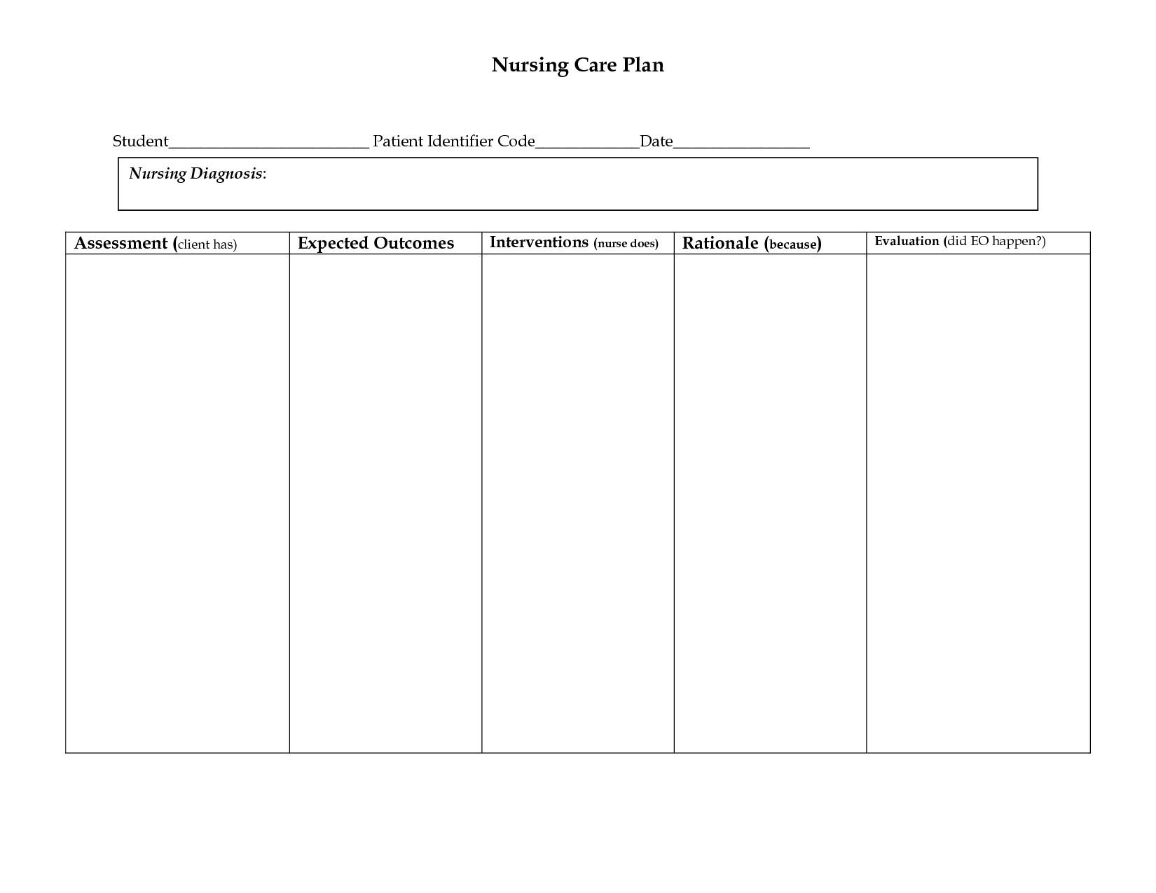 Chiropractic Care Plan Form