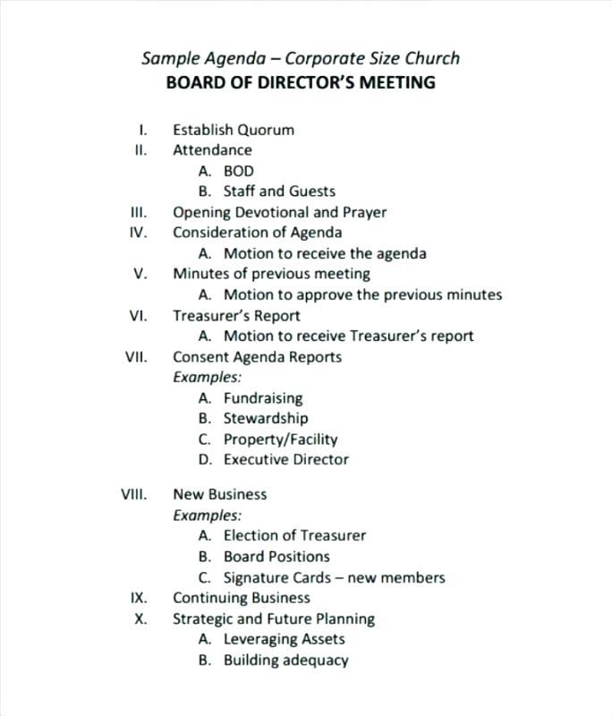 Church Business Meeting Minutes Sample