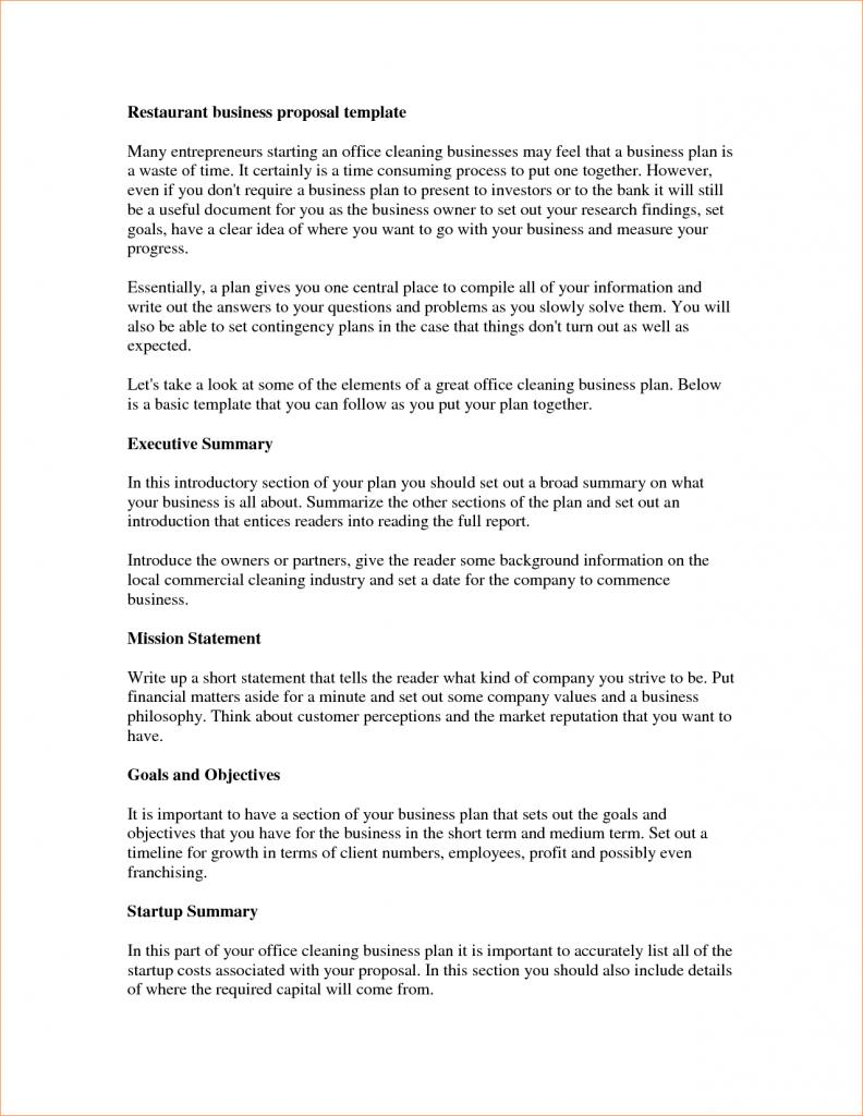 Cleaning Business Plan Template Pdf
