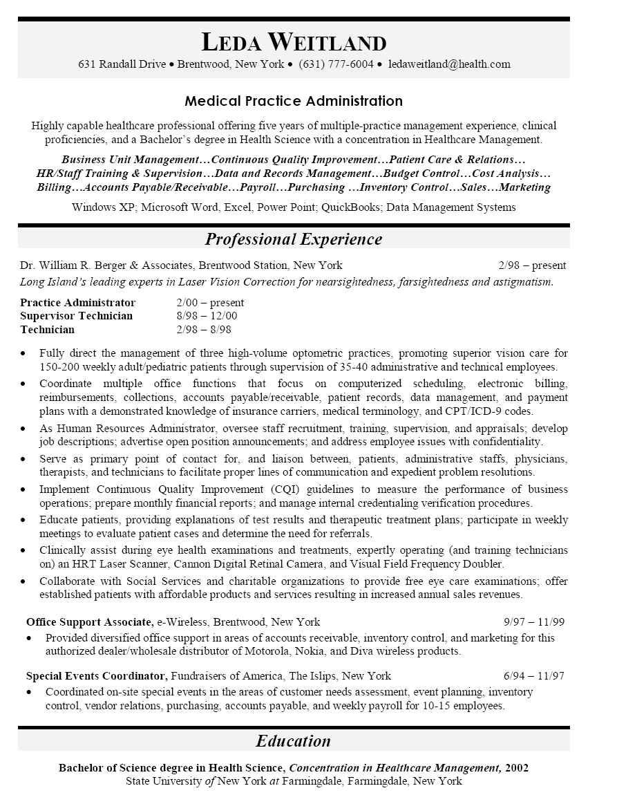 Construction Office Manager Resume Sample