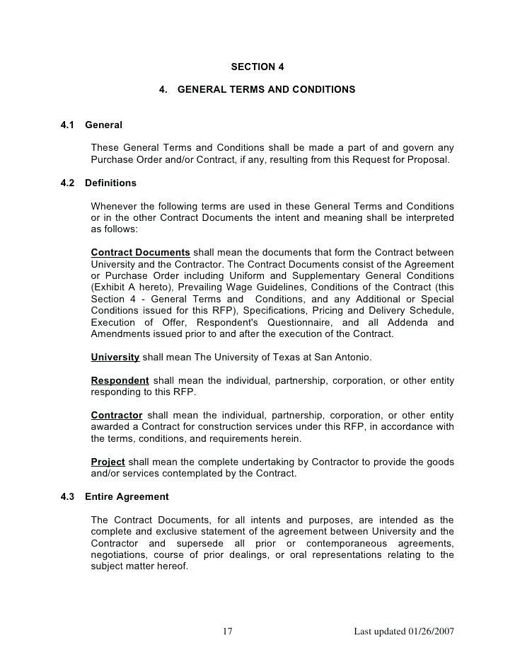 Contractor Terms And Conditions Template Uk