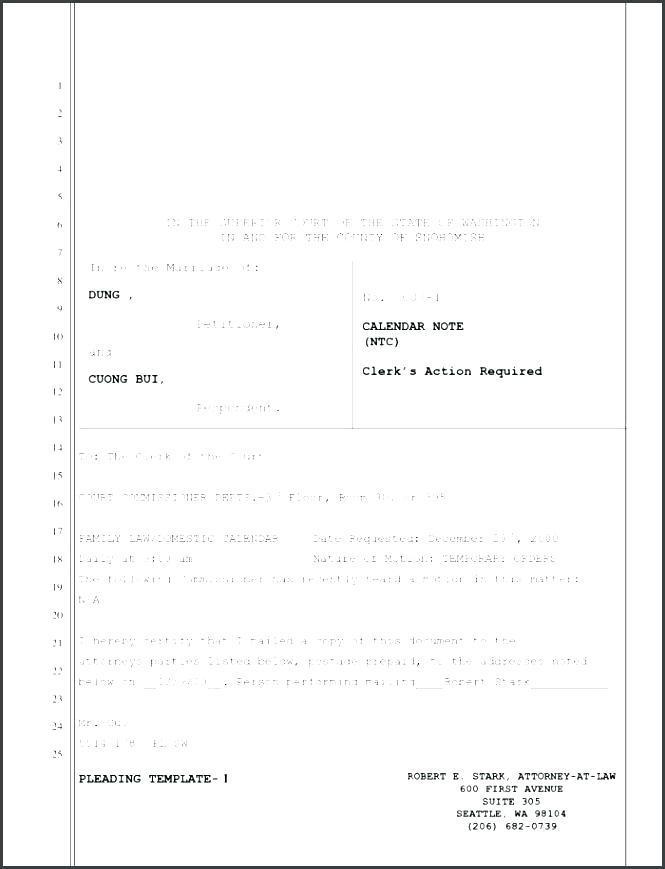 Court Document Templates Free