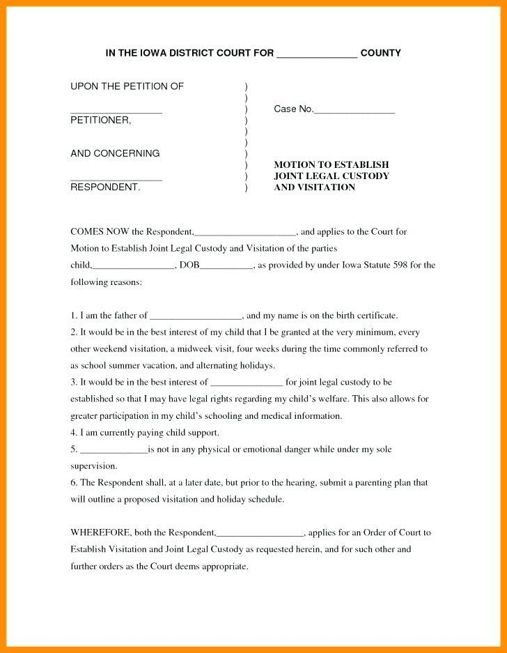 Court Motion Templates Free