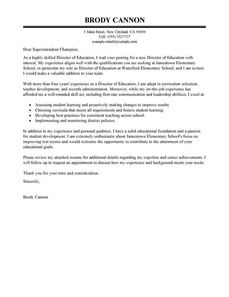 Cover Letter Examples For Resumes