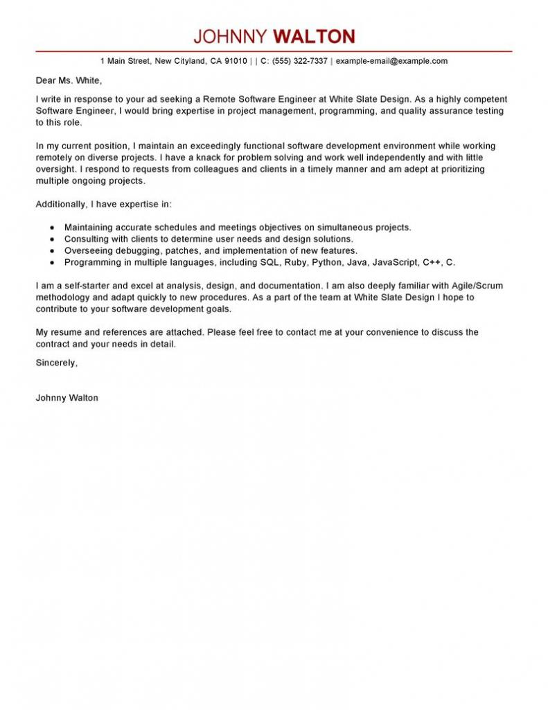 Cover Letter For Electrical Engineering Job Application