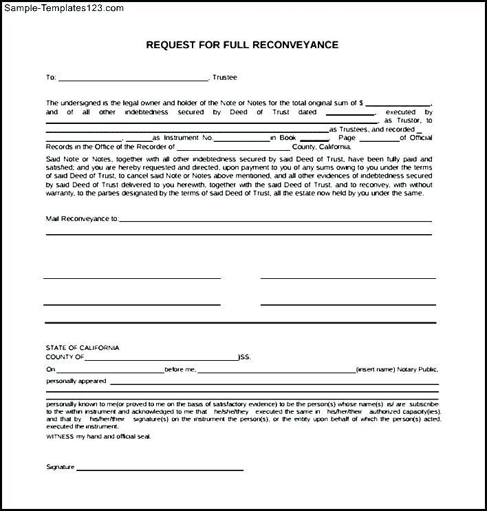 Deed Of Conveyance Form - Templates #30892   Resume Examples