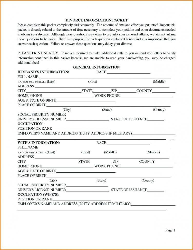 Divorce Decree Template Louisiana