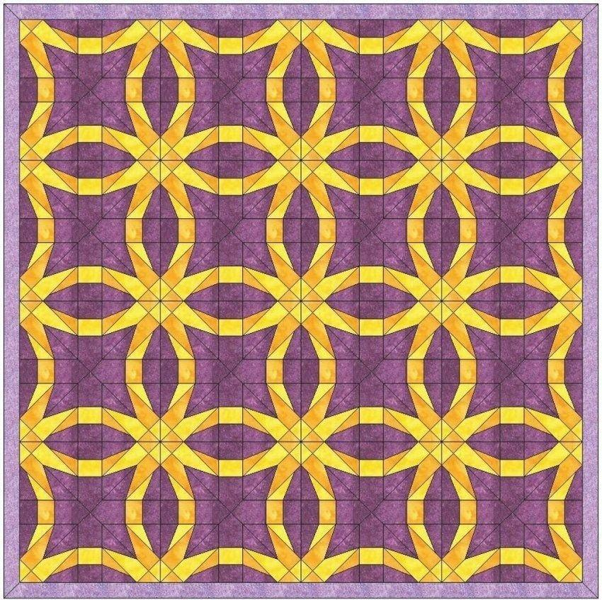Double Wedding Ring Quilt Pattern Paper Pieced