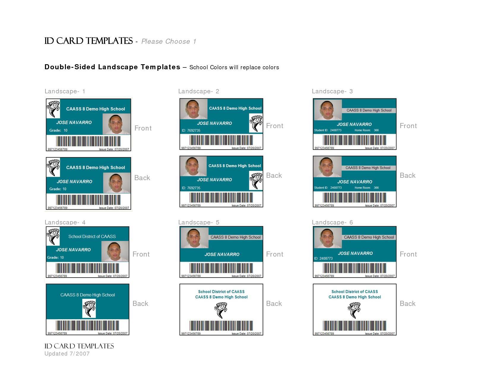 Employee Badge Template Free