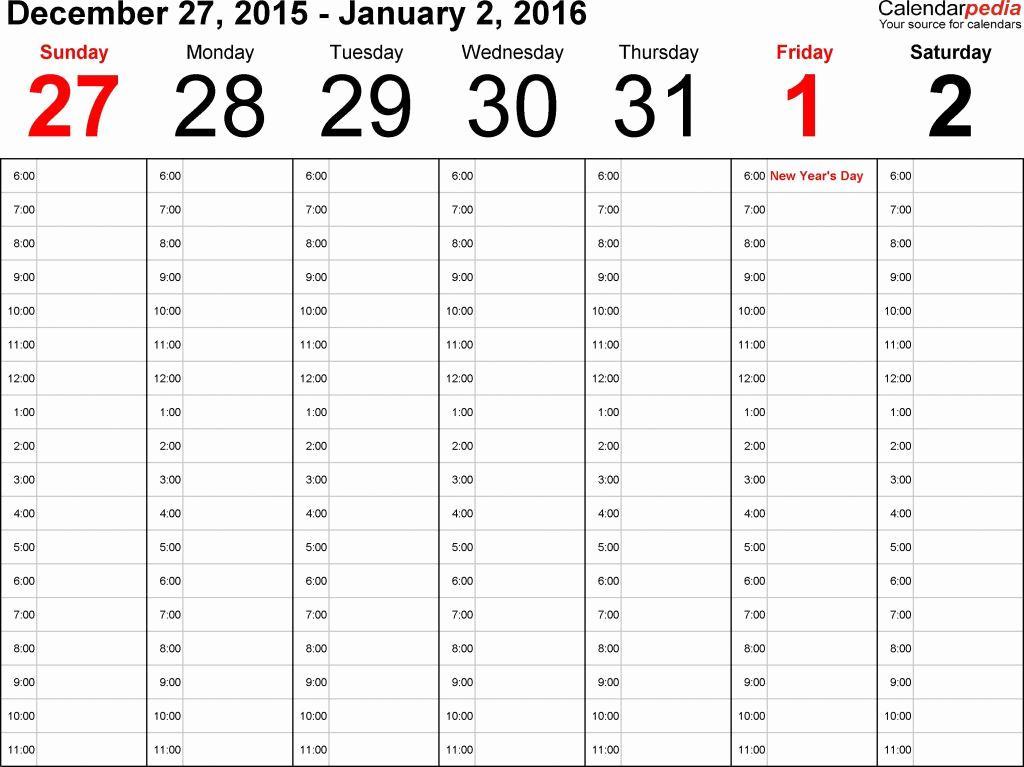 Employee Bi Weekly Work Schedule Template