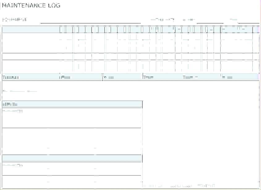 Equipment Preventive Maintenance Checklist Format