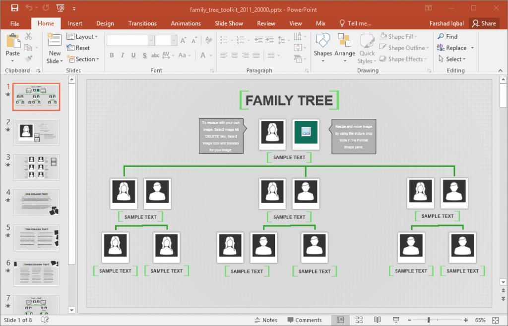 Genealogy Family Tree Templates Excel