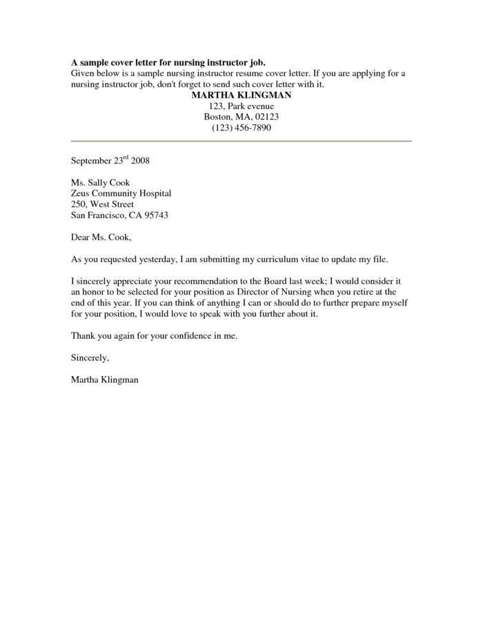 Job Application Letter For Kfc