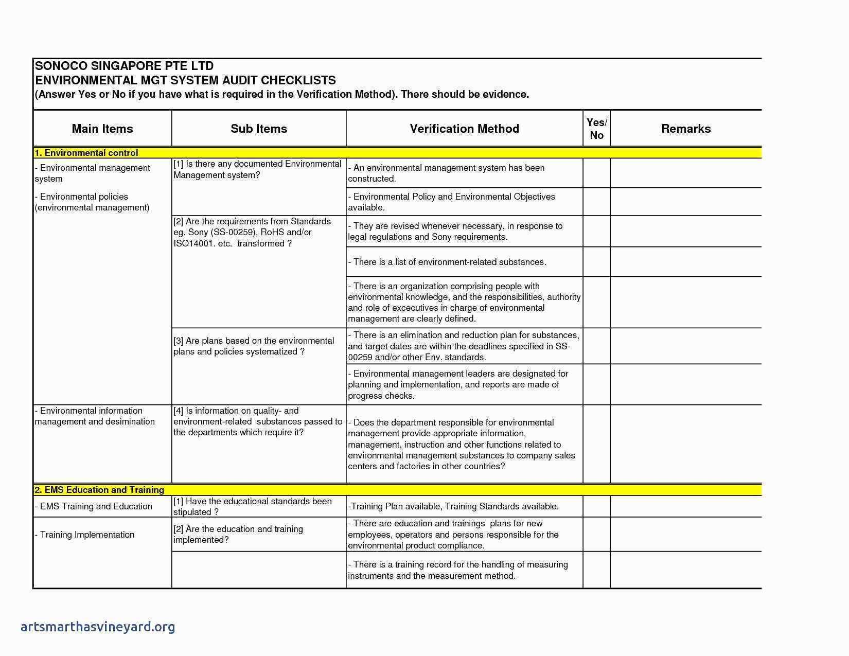 Layered Process Audit Template