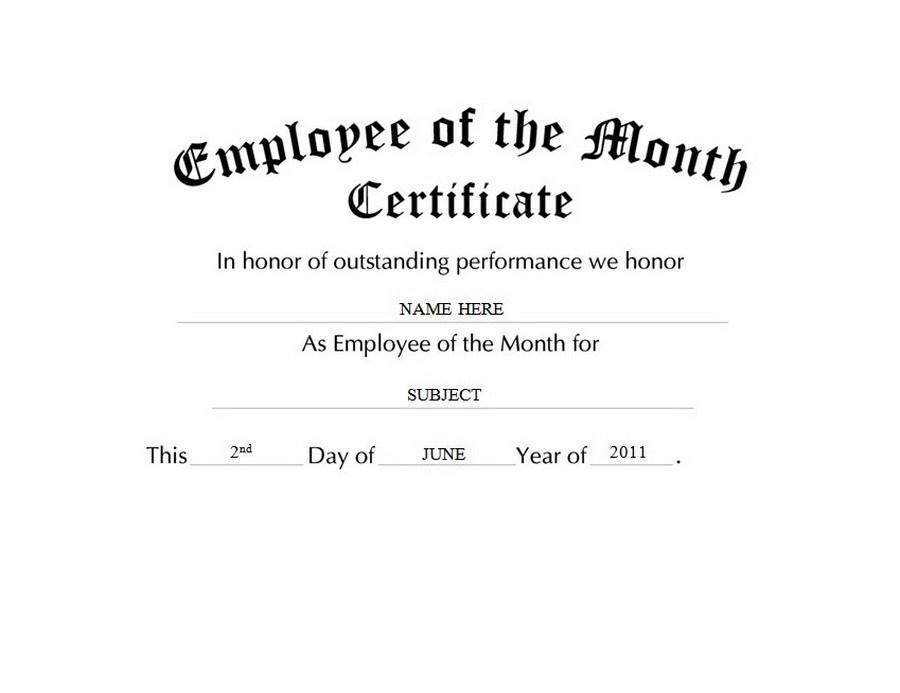Long Service Awards Certificates Free Templates