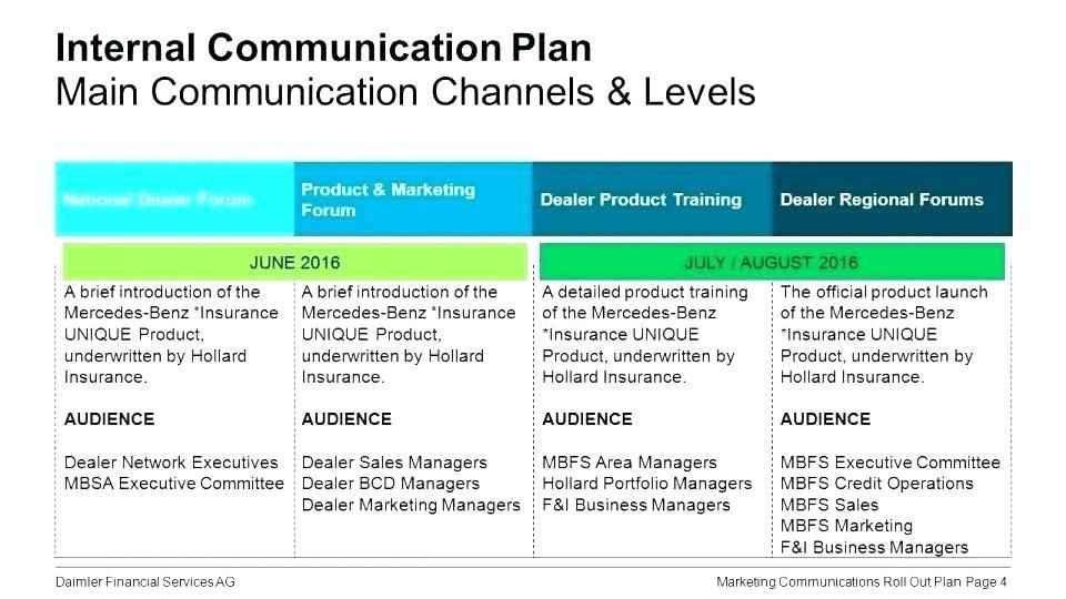 Marketing Rollout Plan Example