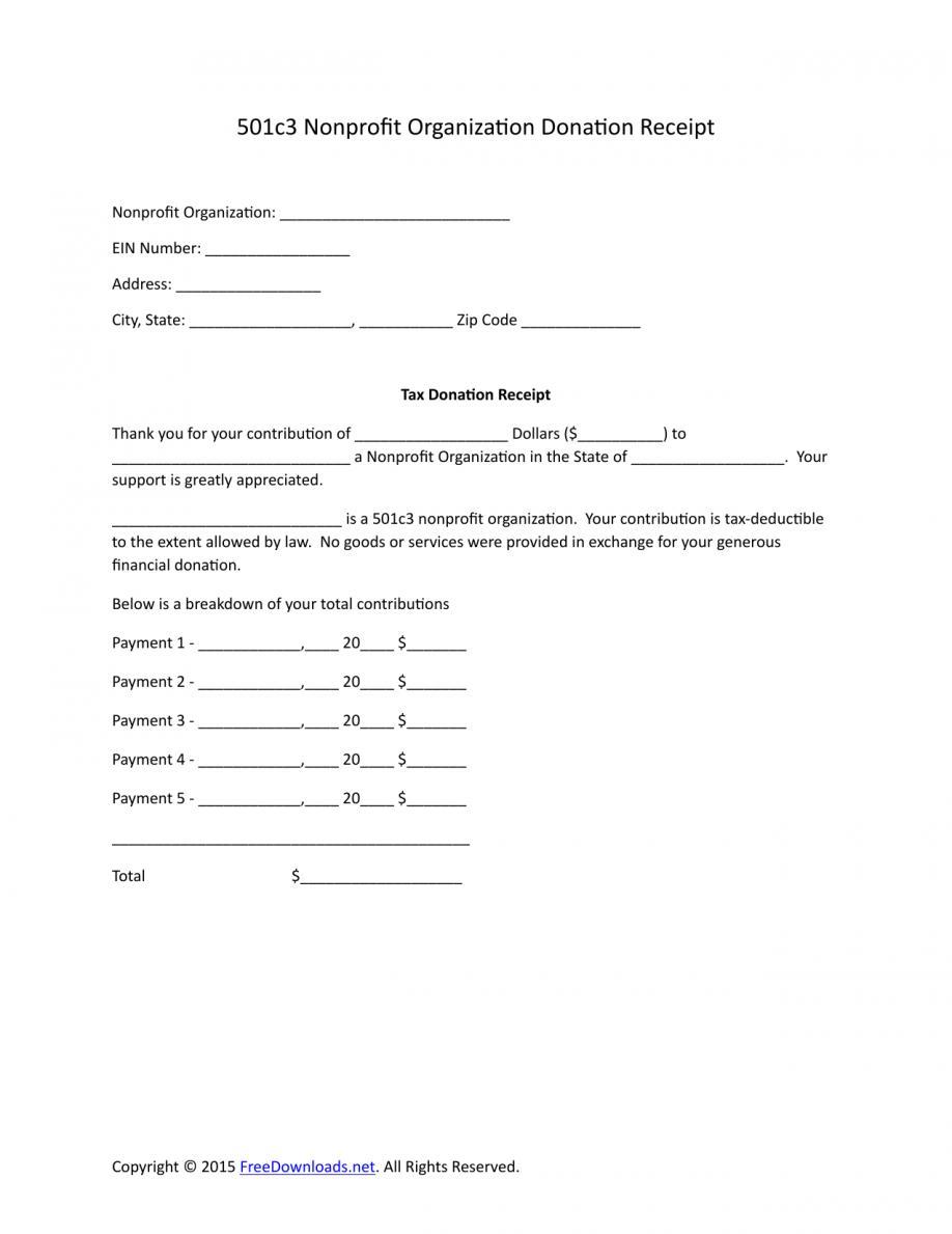 Memorial Donation Acknowledgement Letter Template