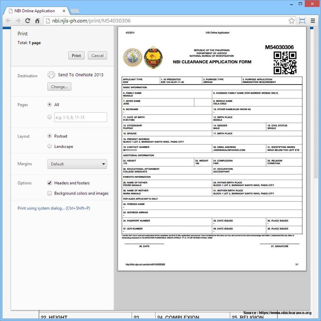 Nbi Online Registration Form Pdf