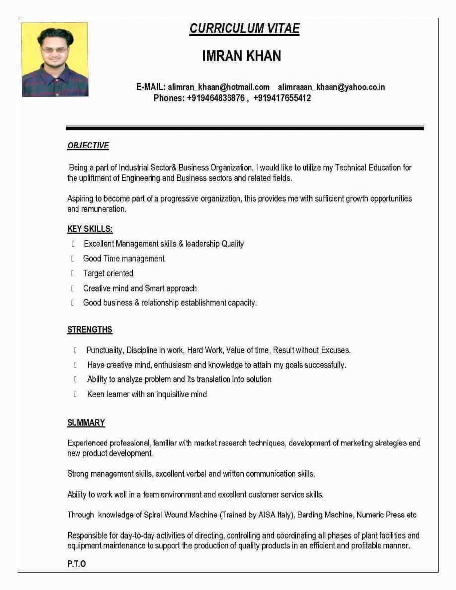 Resume Format Pdf File Free Download