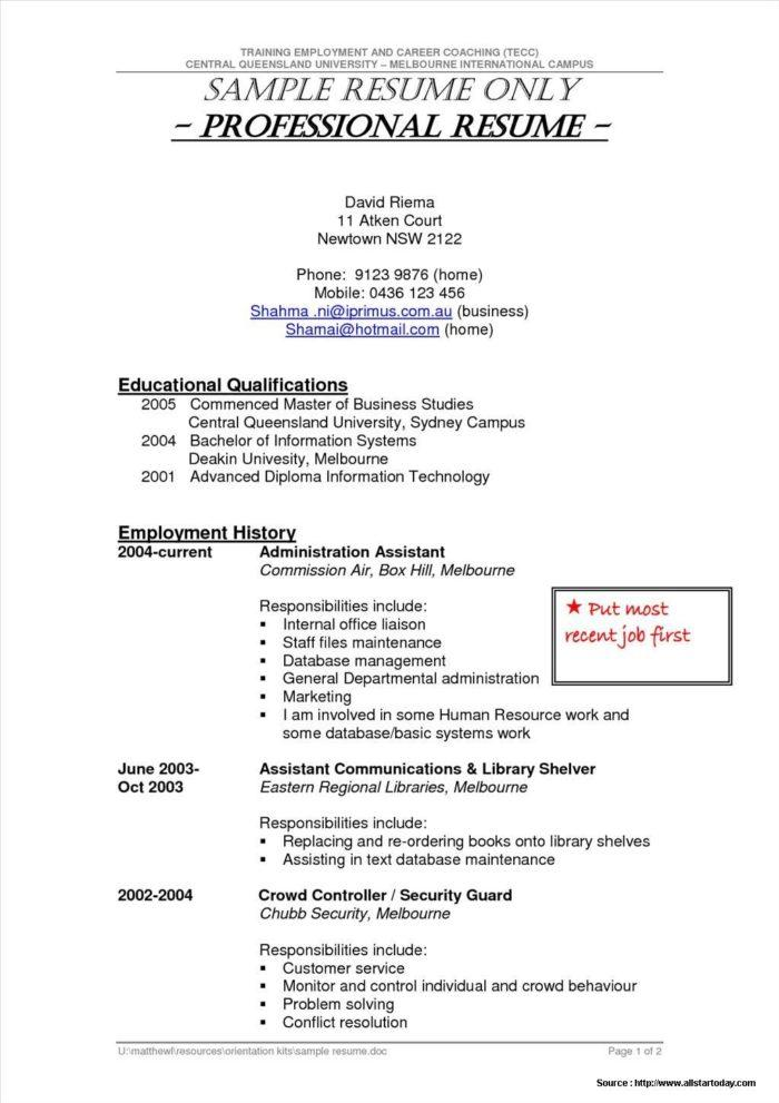 Sample Resume For Security Guard Philippines