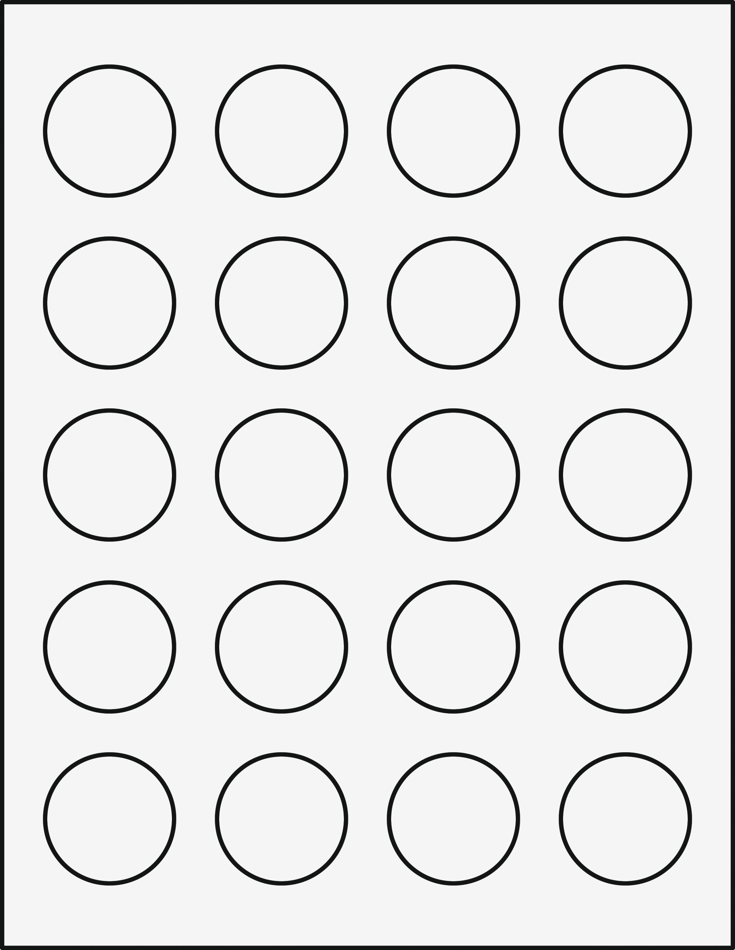 1 Circle Label Template