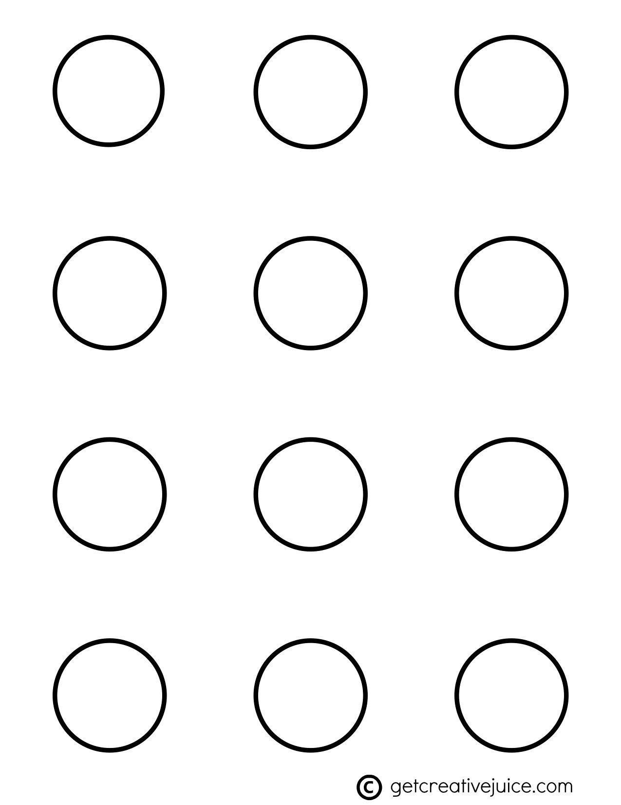 1.5 Circle Label Template Free
