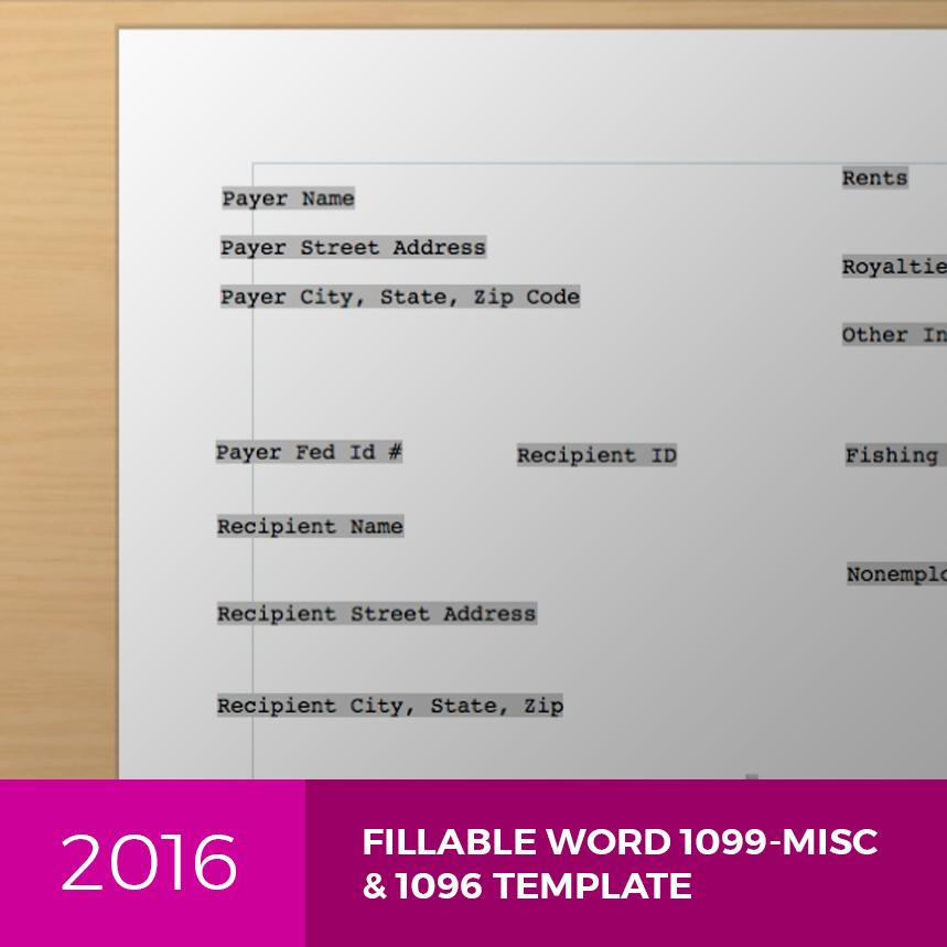 1099 Misc Template 2016