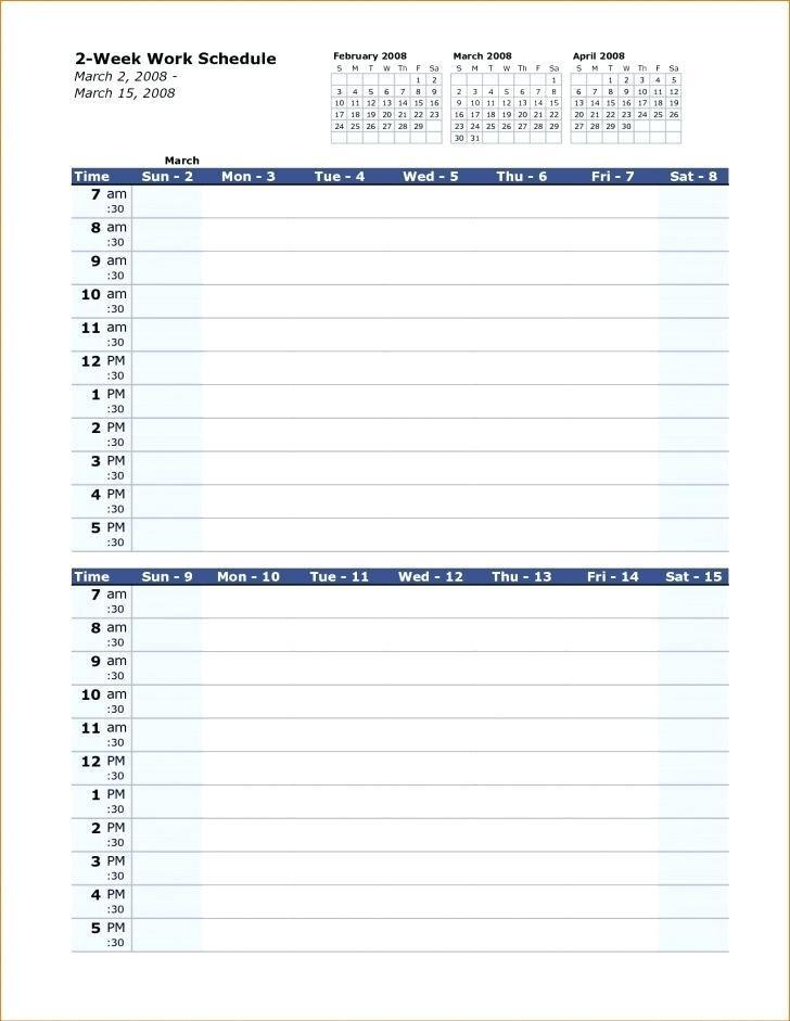 12 Hr Shift Work Schedule Template