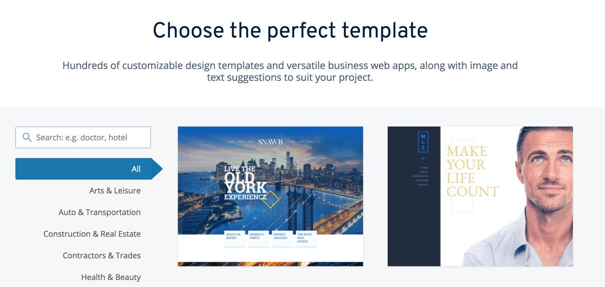 1and1 Free Website Templates