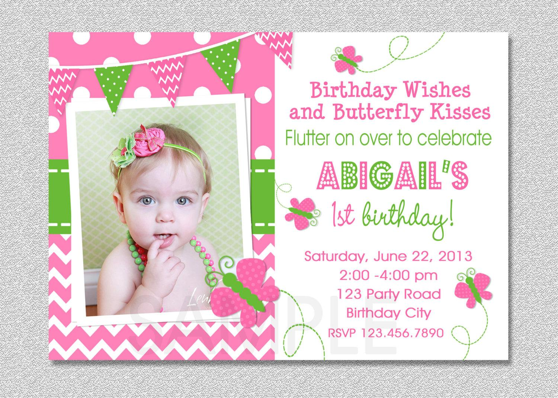 1st Birthday Invitations Templates Uk