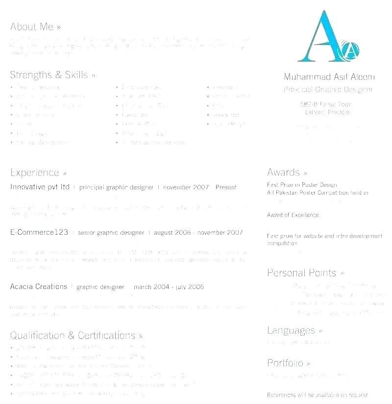 2 Pages Resume Format Free Download