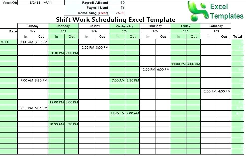 247 10 Hour Shift Schedule Examples